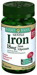 фото упаковки Natures Bounty Легкодоступное железо 18 мг