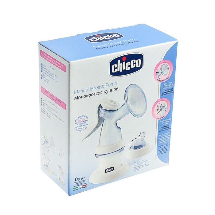 фото упаковки Chicco Natural Feeling Молокоотсос ручной с бутылочкой