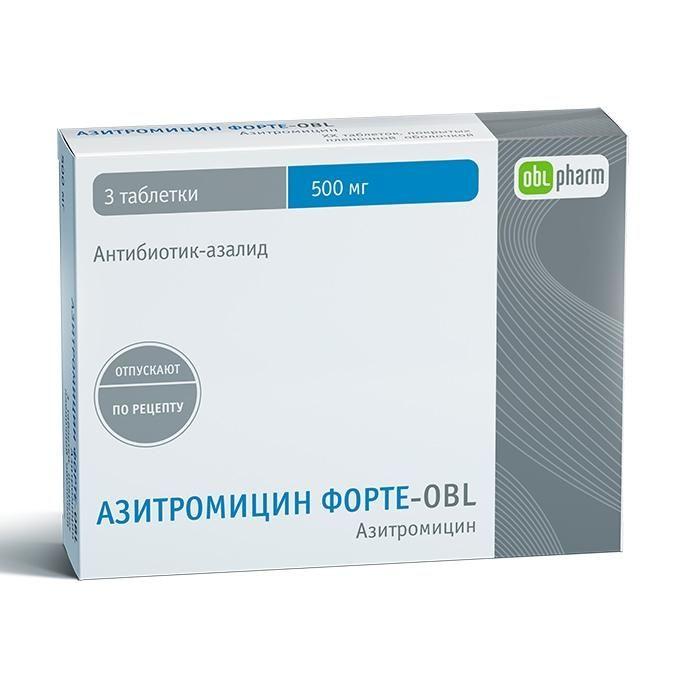 фото упаковки Азитромицин Форте-OBL