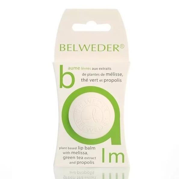 Belweder Бальзам для губ растительный с мелиссой, экстрактом зеленого чая и прополисом, бальзам для губ, 7,5 г, 1 шт.