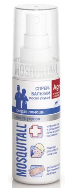 фото упаковки Mosquitall Скорая помощь после укусов спрей-бальзам