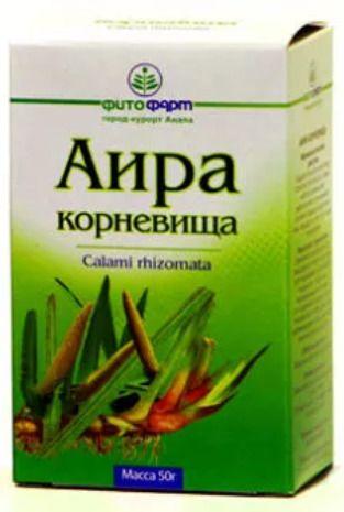 Аира корневища, сырье растительное измельченное, 50 г, 1 шт.