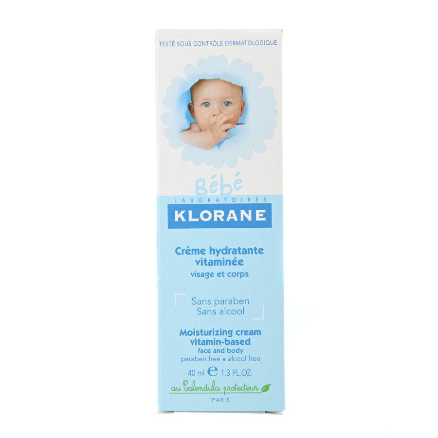 фото упаковки Klorane Bebe Детский увлажняющий крем с витаминами и экстрактом календулы