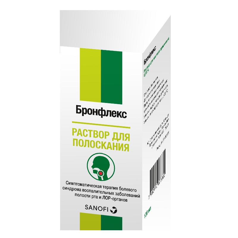 Бронфлекс, 0.15%, раствор для местного применения, 120 мл, 1 шт.