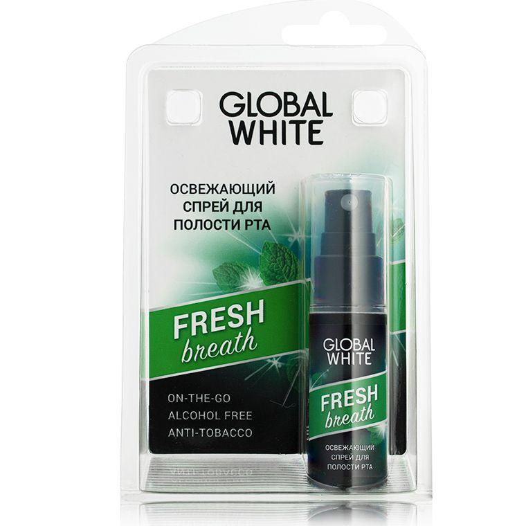 фото упаковки Global White спрей для полости рта освежающий
