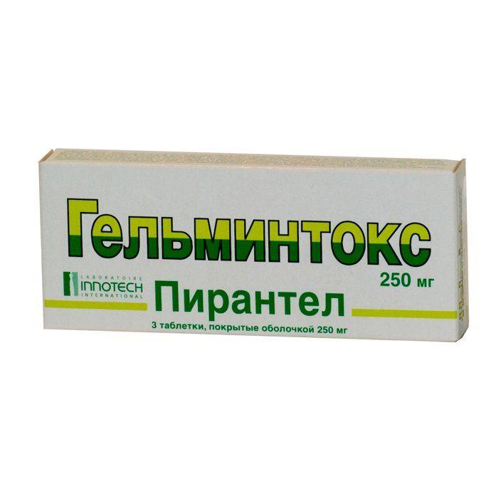 Гельминтокс, 250 мг, таблетки, покрытые пленочной оболочкой, 3 шт.