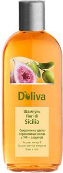 Doliva Шампунь Fiori di Sicilia сохранение цвета окрашенных волос с УФ-фильтром, шампунь, 200 мл, 1 шт.