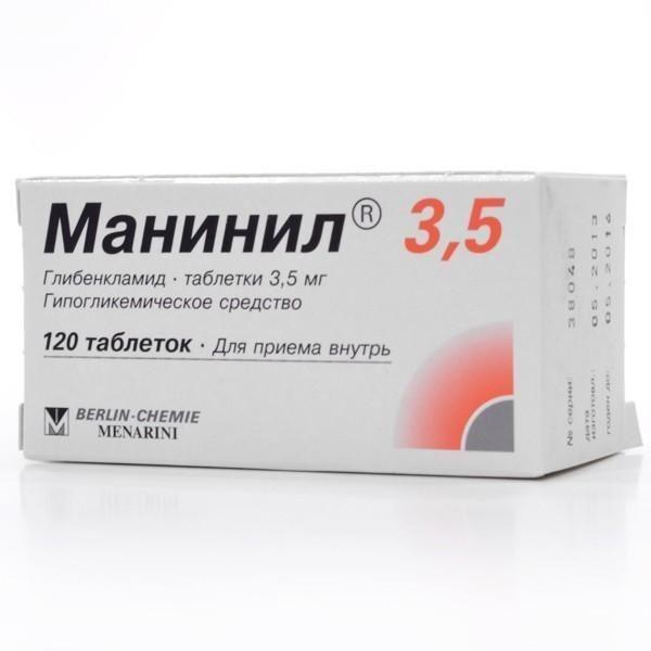 фото упаковки Манинил 3,5