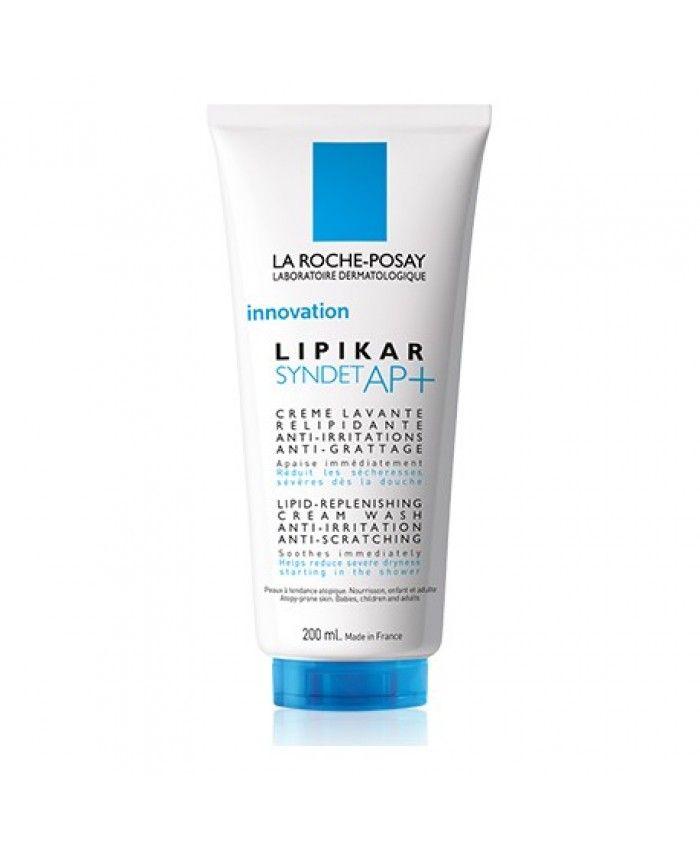 фото упаковки La Roche-Posay Lipikar Syndet AP+ очищающий крем-гель для лица и тела