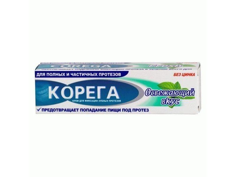 фото упаковки Корега Освежающий вкус Крем для фиксации зубных протезов