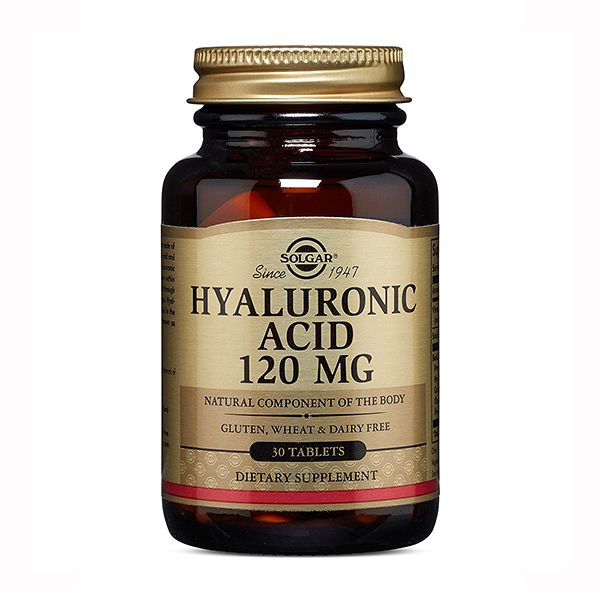 Solgar Гиалуроновая кислота 120 мг, 120 мг, таблетки, 30 шт.