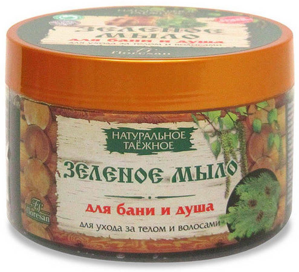 фото упаковки Floresan Зеленое мыло таежное для тела и волос