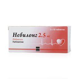 Небилонг, 2.5 мг, таблетки, 30 шт.