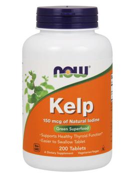 NOW Kelp, 150 мкг, таблетки, 200шт.