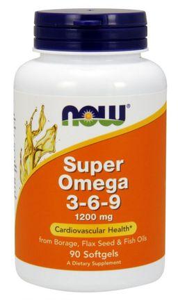 NOW Супер Омега 3-6-9, 1200 мг, капсулы, 90шт.