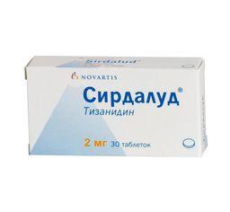 Сирдалуд, 2 мг, таблетки, 30шт.