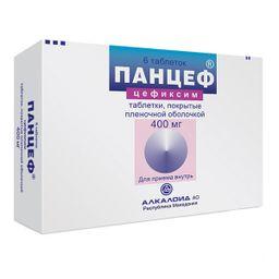 Панцеф, 400 мг, таблетки, покрытые пленочной оболочкой, 6 шт.