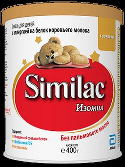 Similac Изомил, смесь молочная сухая, 400 г, 1шт.