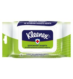 Kleenex Салфетки влажные антибактериальные, салфетки влажные, 40 шт.