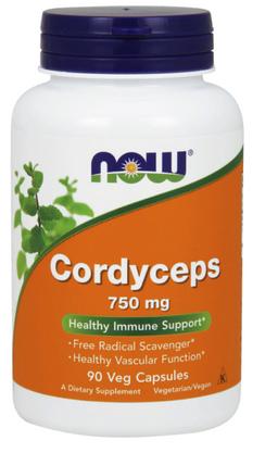 NOW Cordyceps, 750 мг, капсулы, 90шт.