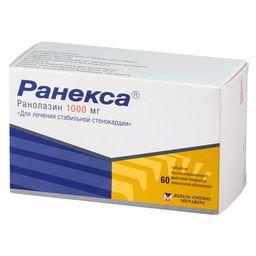 Ранекса, 1000 мг, таблетки пролонгированного действия, покрытые пленочной оболочкой, 60 шт.