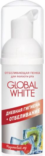 Global White пенка для полости рта отбеливающая Фруктовый лед, спрей, 50 мл, 1 шт.