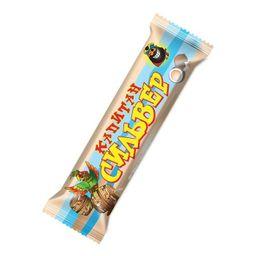 Капитан Сильвер, батончик, кокосовый батончик в шоколадной глазури со сгущеным молоком, 50 г, 1 шт.