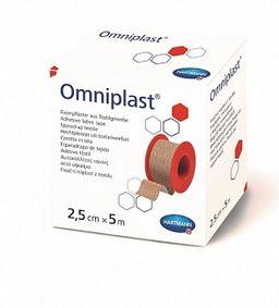 Omniplast Пластырь фиксирующий, 5мх2.5см, пластырь медицинский, тканевая основа, 1 шт.