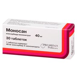 Моносан, 40 мг, таблетки, 30 шт.