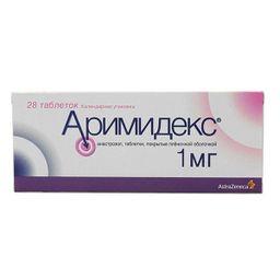 Аримидекс, 1 мг, таблетки, покрытые пленочной оболочкой, 28 шт.