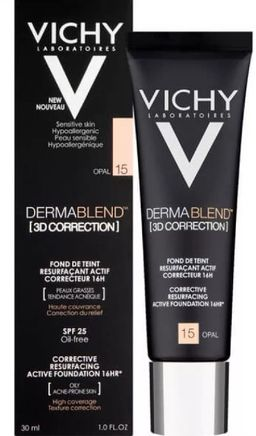 Vichy Dermablend 3D Тональная основа тон 15, крем для лица, тон 15, 30 мл, 1шт.