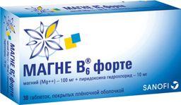 Магне B6 форте, таблетки, покрытые пленочной оболочкой, 30 шт.