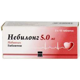 Небилонг, 5 мг, таблетки, 30 шт.