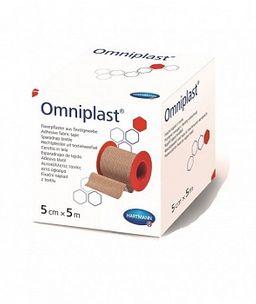 Omniplast Пластырь фиксирующий, 5мх5см, пластырь медицинский, тканевая основа, 1 шт.
