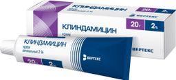 Клиндамицин, 2%, крем вагинальный, 20 г, 1 шт.
