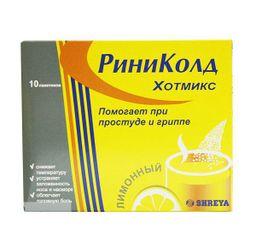 Риниколд ХотМикс, порошок для приготовления раствора для приема внутрь, лимонные(ый), 5 г, 10 шт.