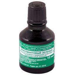 Бриллиантового зеленого раствор спиртовой, 1%, раствор для наружного применения спиртовой, 10 мл, 1шт.