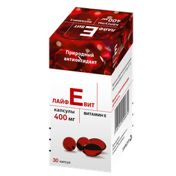 Лайфевит, 400 мг, капсулы, 30шт.