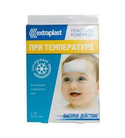 Extraplast Пластырь от температуры, 5х12, пластырь, 3 шт.
