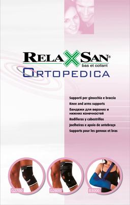 Relaxsan Бандаж коленный с латеральным усилением, р. XXL, арт. G2700, черного цвета, 1шт.