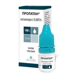 Пролатан, 0.005%, капли глазные, 2.5 мл, 1 шт.