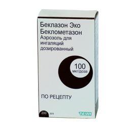Беклазон Эко, 100 мкг/доза, 200 доз, аэрозоль для ингаляций дозированный, 1 шт.