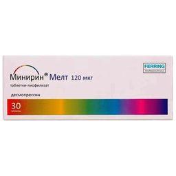 Минирин Мелт, 120 мкг, таблетки-лиофилизат, 30 шт.