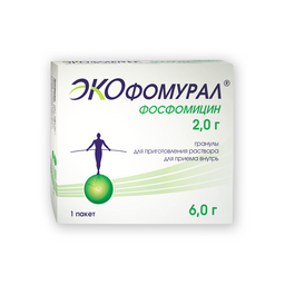 Экофомурал, 2 г, гранулы для приготовления раствора для приема внутрь, 6 г, 1 шт.