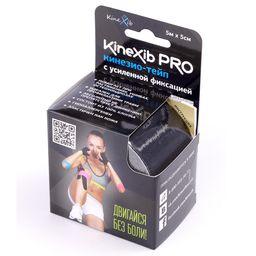 Kinexib Pro Бинт кинезио-тейп с усиленной фиксацией, 5х500, черного цвета, 1шт.
