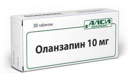 Оланзапин, 10 мг, таблетки, 30 шт.