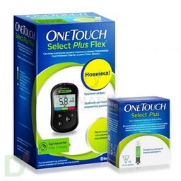 Глюкометр One Touch Select Plus Flex + 25 полосок, 1 шт.