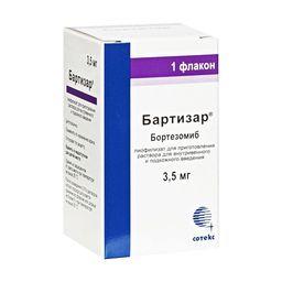 Бартизар, 3.5 мг, лиофилизат для приготовления раствора для внутривенного и подкожного введения, 38,336 мл, 1шт.