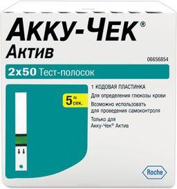 Accu-Chek Active Тест-полоски, тест-полоска, 100 шт.