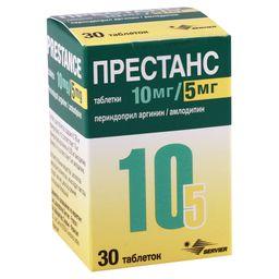 Престанс, 10 мг+5 мг, таблетки, 30 шт.